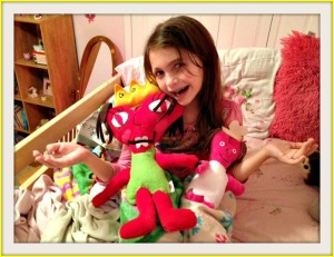 Melissa with dolls